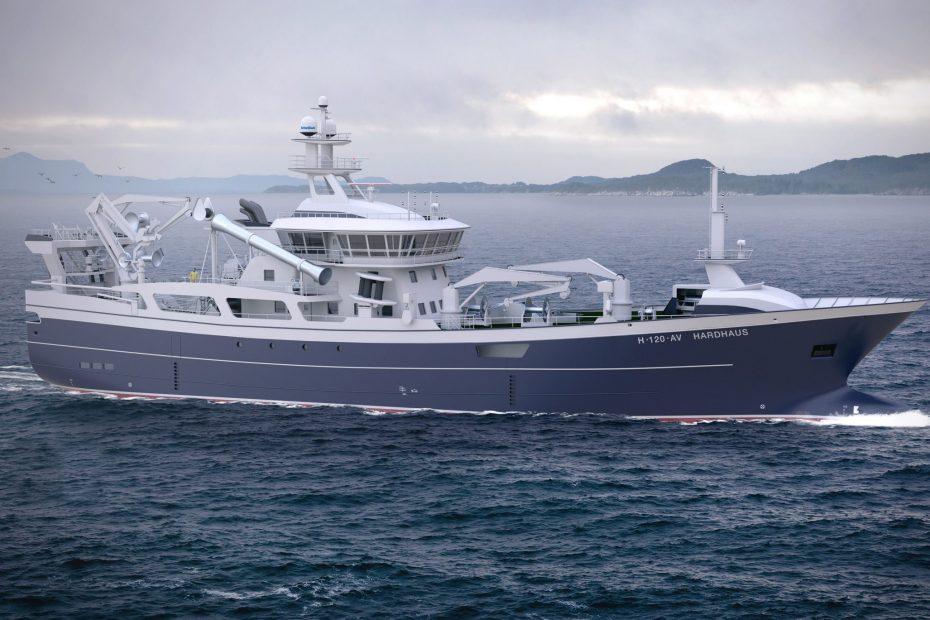 Fiskebåten Hardhaus på sjøen